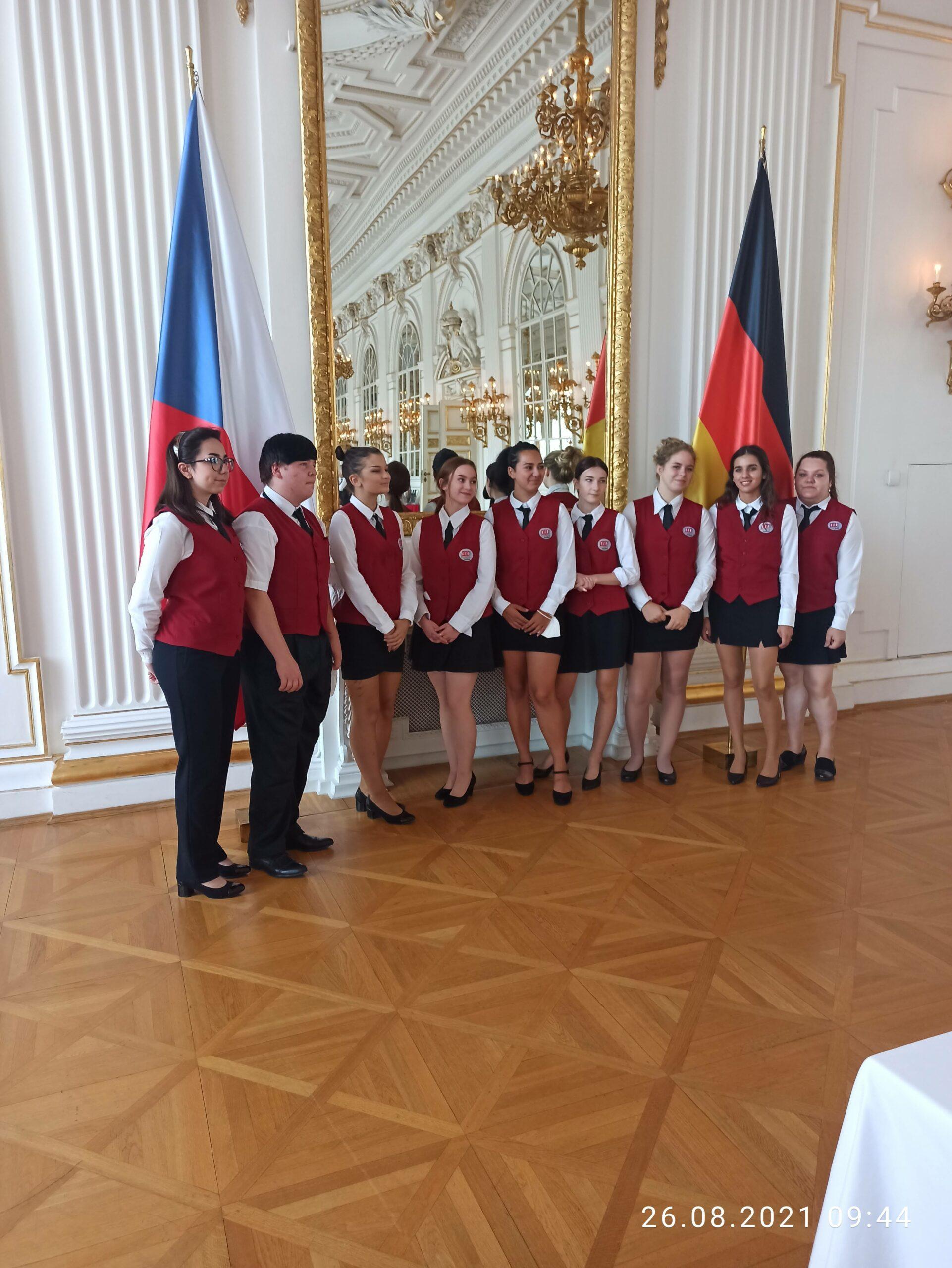 Praxe naPražském hradě upříležitosti návštěvy německého prezidenta